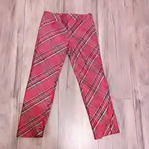 Adorable red plaid janie and jack pants